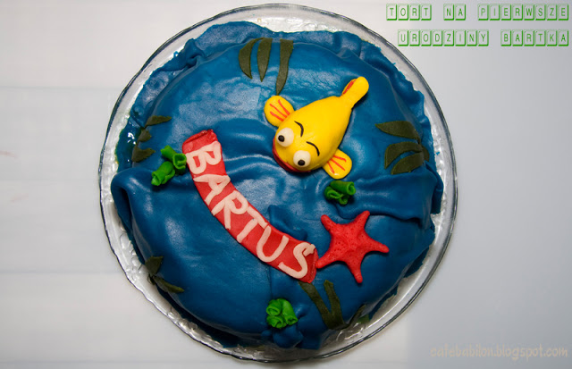 Tort na pierwsze urodziny - Rybka Mini Mini