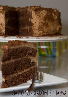 Mocno czekoladowe ciasto z chałwą