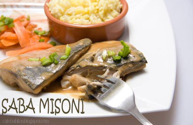 Saba Misoni - duszona makrela