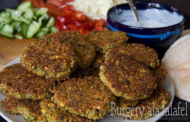 Burgery bezmięsne ala falafel