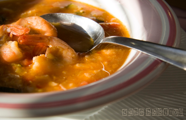 Zupa rybna z soczewicą