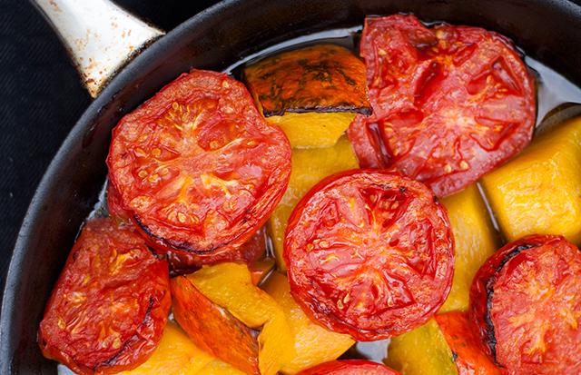 Zupa krem z dyni i pomidorów