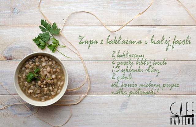 Zupa z bakłażana i białej fasoli
