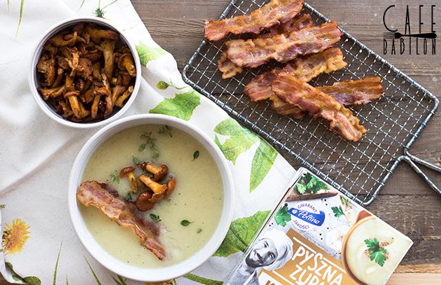 Kremowa zupa z kurkami